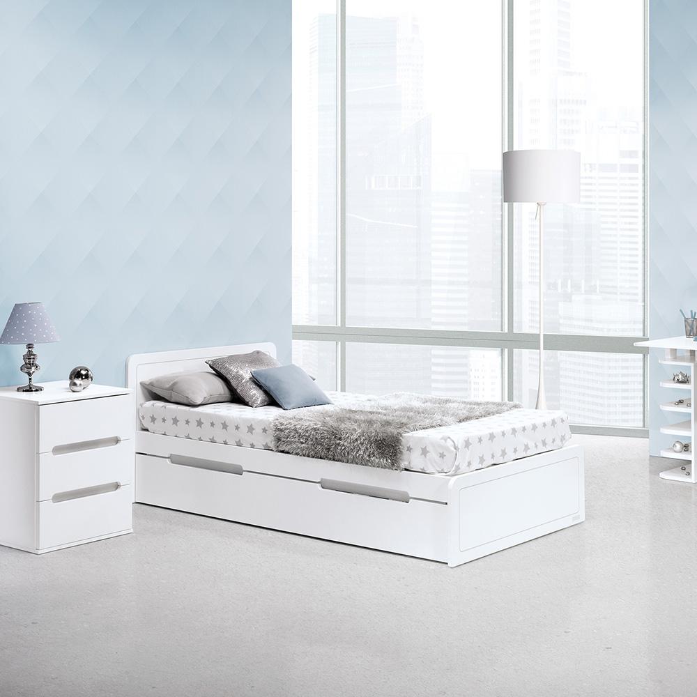 0025 Combi Design [blanco Mate Plata Mate] (cama)