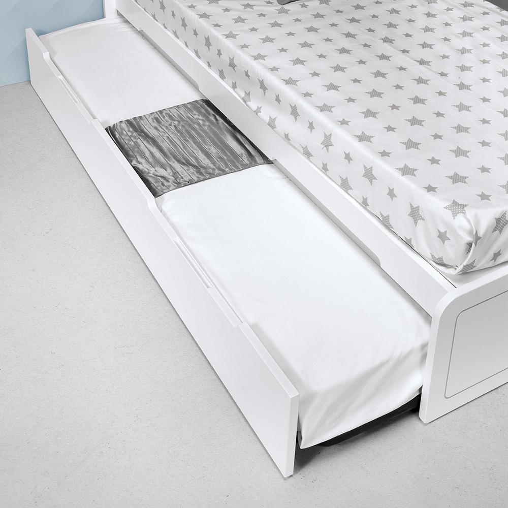 0026 Combi Design [blanco Mate Plata Mate] (cama Nido)