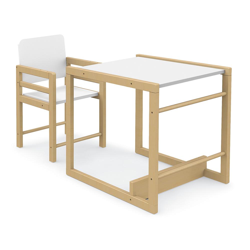 0026 Duo [tola Branco Mate] (cadeira Mesa)