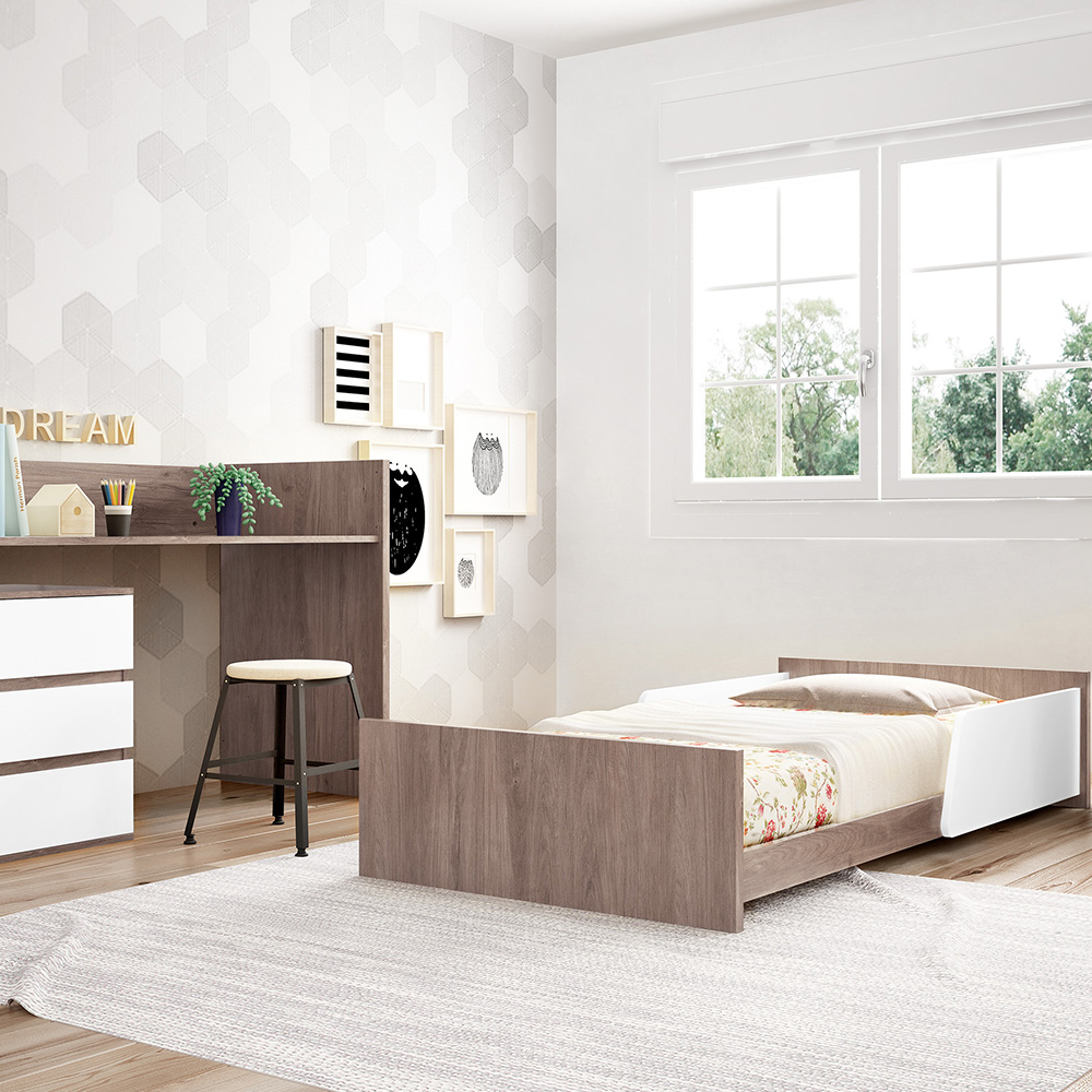0058 Combi Cool [acacia Blanco Mate] (cama Montessori)