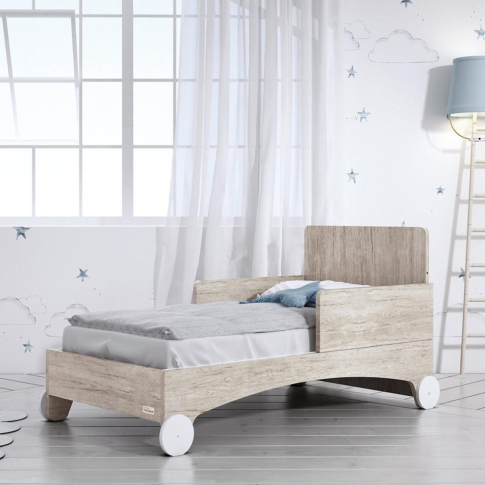 0059 Stella [roble Castello Blanco Mate] (cama)