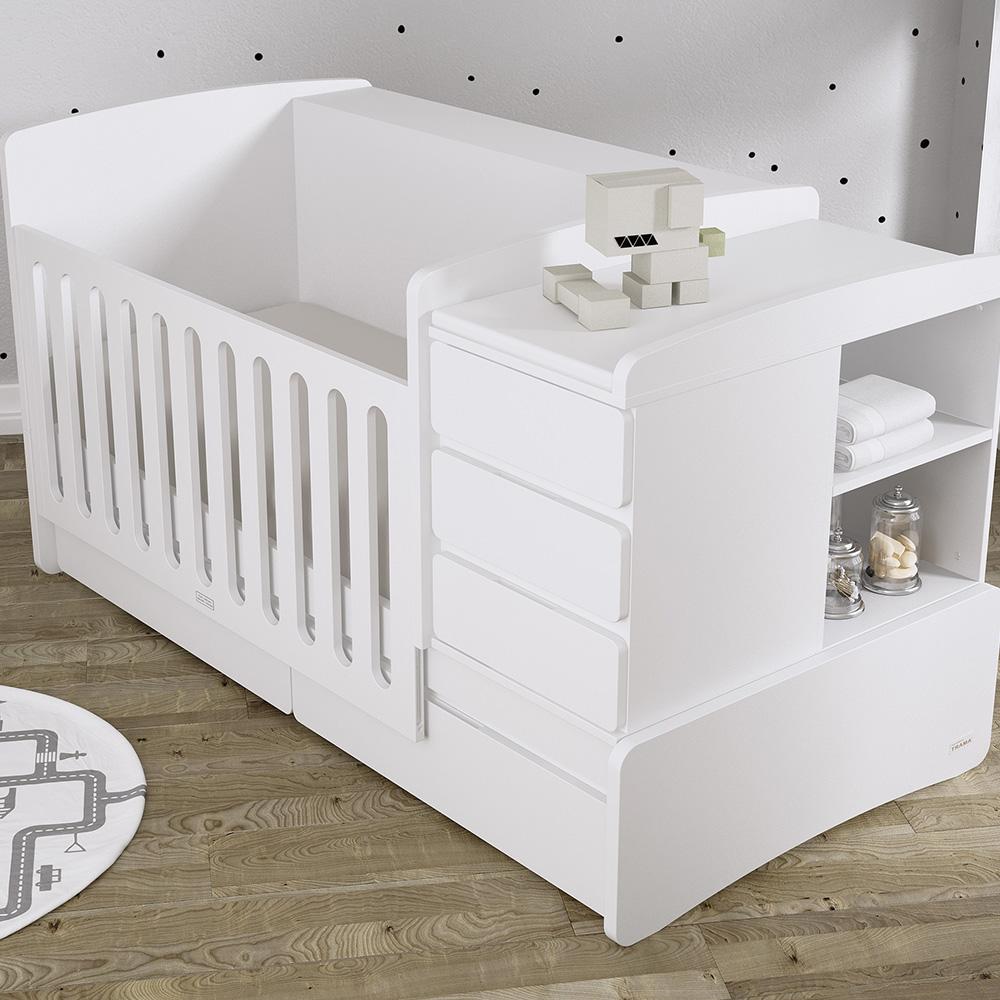 0071 Combi Nest [blanco Mate] (cuna Lateral Bajado)