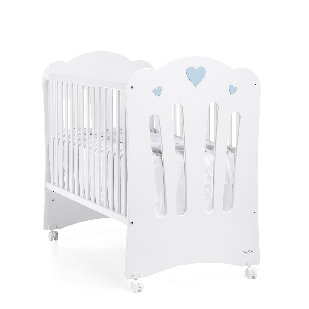 0128 Corazones [blanco Mate Azul Bebé]